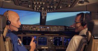 In volo con Luca Parmitano, l'astronauta ai comandi del Boeing 777 alla vigilia del sua partenza per la Stazione spaziale