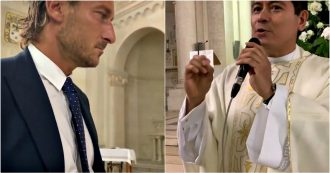 Francesco Totti, l'interrogazione del prete spiazza l'ex capitano della Roma. Lo show alle nozze della cognata