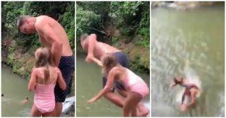 """Tom Brady, il marito di Gisele Bundchen si butta dalle rocce con la figlia di 6 anni. Contro di lui le accuse: """"Un cattivo papà"""""""