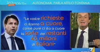 """Autonomia, Fontana a Conte: """"Si scrolli di dosso chi lo condiziona con notizie false"""""""