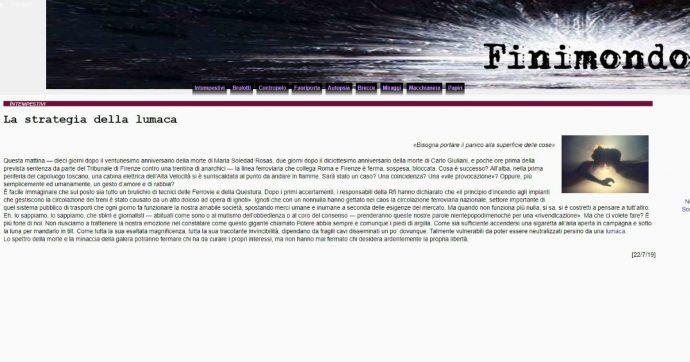 """Firenze, siti anarchici esultano per blocco treni: """"Gesto d'amore e di rabbia"""". Tre condannati per ferimento agente nel 2017"""