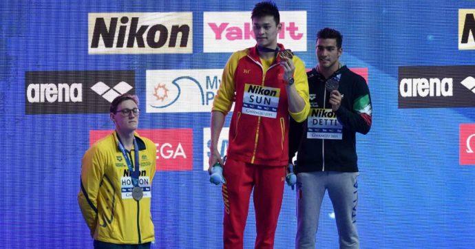 """Mondiali nuoto, solidarietà per Horton dai colleghi: non è salito sul podio con Sun, accusato di doping. """"Siamo al suo fianco"""""""