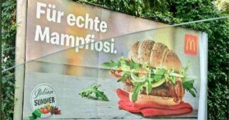 """McDonald's, """"per veri mafiosi"""": la pubblicità del nuovo panino scatena le polemiche"""