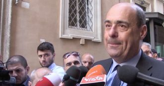 """Governo, Zingaretti: """"Smentisco possibilità di alleanza tra PD e M5s, in caso di crisi voto"""""""