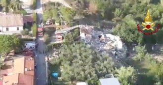 Esplosione Isola d'Elba, le macerie della palazzina di Portoferraio viste dall'alto