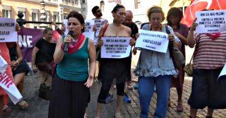"""Ddl Pillon, sit-in a Montecitorio: """"Rinvio e mediazione? Non basta, si ritiri riforma e proposte collegate"""". Al M5s: """"Ci metta la faccia"""""""