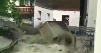 Non piove ma Zermatt viene travolta dall'acqua: si è sciolto il ghiacciaio per il caldo