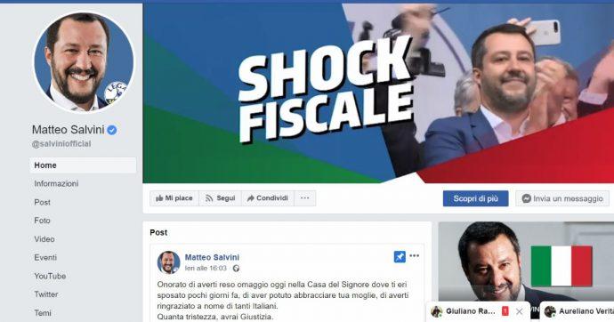"""Lega: """"Nessuna rimozione di post dalla pagina ufficiale Salvini Premier"""""""