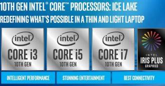 Intel annuncia i nuovi processori Core di decima generazione, i notebook hanno una marcia in più