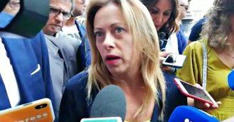 """Giorgia Meloni contro l'organizzazione dell'evento in piazza San Giovanni: """"Bandiere Lega? Trattati come ospiti in casa d'altri"""""""