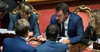 """Dl Sicurezza bis alla prova della fiducia in Senato. Protesta Pd: """"Vergogna"""". Grasso: """"I tweet di Salvini sono legge"""""""