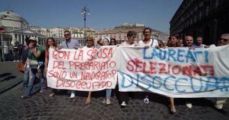 """Napoli, protesta dei navigator. In corteo verso la Regione Campania: """"Vogliamo il contratto"""""""