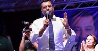 """Governo, ipotesi crisi: vertice tra Salvini e Conte di un'ora. Poi va in piazza: """"Qualcosa si è rotto, ma no ai rimpastini"""""""