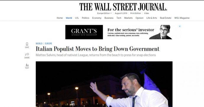 Crisi di governo, le prime pagine dei giornali internazionali. Guardian: 'Mossa drammatica', Financial Times: 'Populisti al collasso'