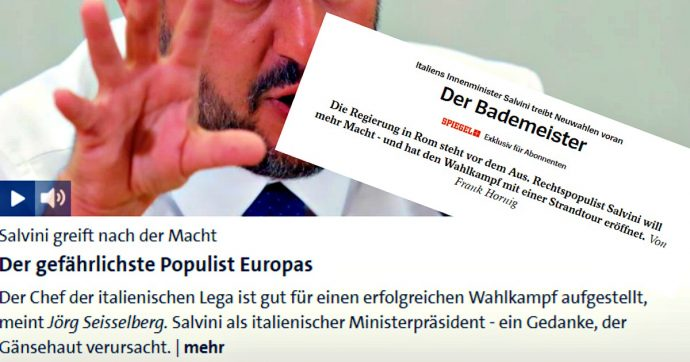 """Crisi di Governo, Salvini visto dalla stampa estera. I media tedeschi: """"Il bagnino"""". """"Lui primo ministro? Fa venire la pelle d'oca"""""""