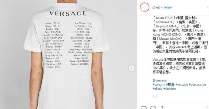 Versace, polemiche in Cina per una linea di t-shirt e felpe. Donatella costretta a scusarsi, merce subito ritirata dal mercato