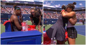 Serena Williams in lacrime si ritira dalla finale: il gesto dell'avversaria è da ovazione