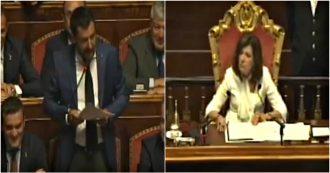 """Senato, Casellati si rivolge a Salvini e lo chiama più volte """"presidente"""", ma nessuno sa perché"""