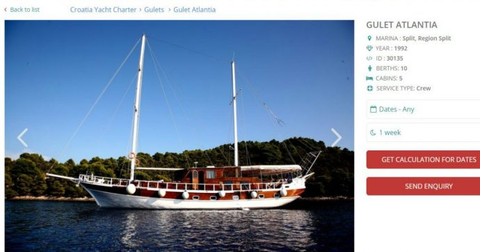 """Croazia, Eugenio Vinci morto in barca: """"Nelle cabine del caicco affittato a 12mila euro a settimana gas tossici provenienti dal motore"""""""