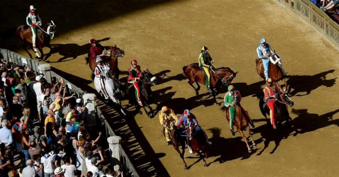 """Palio di Siena, vince il cavallo """"scosso"""" della contrada Selva: battuto al fotofinish il Bruco"""