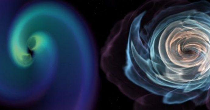 Onde gravitazionali, un nuovo segnale forse generato da una stella di neutroni ingoiata da un buco nero: evento mai visto prima