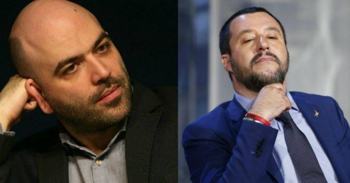 """Open Arms, Saviano contro Salvini: """"Il suo destino è il carcere"""". E il ministro chiede consiglio ai fan: """"Mi dimetto o tengo duro?"""""""