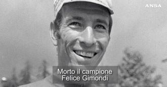 Addio a Felice Gimondi, monumento dello sport: ha vinto tutti i grandi giri. La video scheda