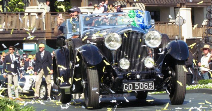 Pebble Beach, al Concorso D'Eleganza vince una Bentley Sports Tourer 8 litri del 1931