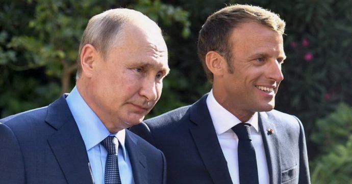"""Vertice Francia-Russia, Macron: """"Proteste in piazza, Mosca rispetti i principi democratici"""". Putin replica: """"Noi non vogliamo gilet gialli"""""""