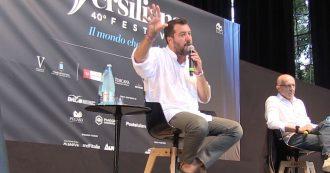 """Crisi, Salvini: """"Se si prendono la maggioranza nei palazzi scenderemo in piazza a chiedere il voto"""""""