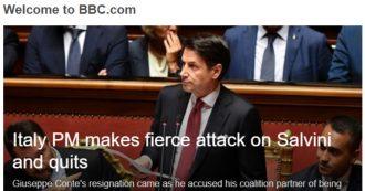 """Crisi di governo, l'Italia sulla stampa internazionale. Times: """"Caos politico"""". Cnn: """"Premier contro il partner irresponsabile"""""""