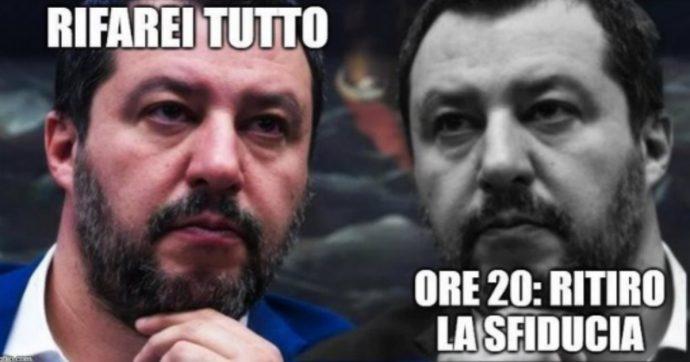 """Crisi di governo, Salvini ancora al Viminale: """"Finché posso resto"""". E #Salviniacasa diventa trending topic su Twitter"""
