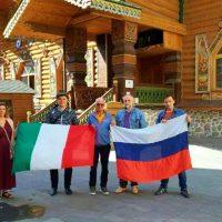 """A Mosca con alcuni membri dell'associazione """"Italian Group"""""""