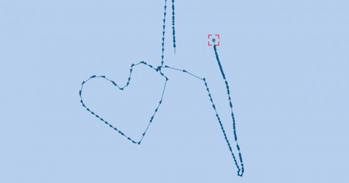 Migranti, Open Arms attracca: Ocean Viking festeggia con una rotta a forma di cuore
