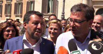 """Crisi, Salvini: """"Non ho sbagliato, nessun fallimento. Sfido Renzi e Conte alle elezioni"""". Giorgetti: """"Voto? Palla è nelle mani di Mattarella"""""""
