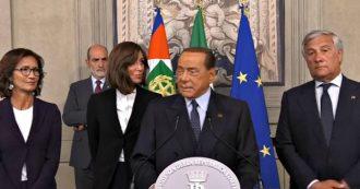 """Crisi, Berlusconi: """"Non riferisco le frasi con cui Merkel e Juncker hanno definito il precedente governo perché farebbe male a tutti"""""""