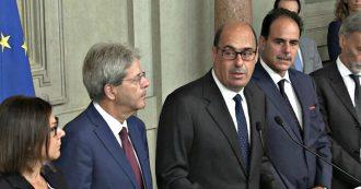"""Zingaretti: """"Serve un governo di svolta, alternativo alle destre e con un programma nuovo""""."""
