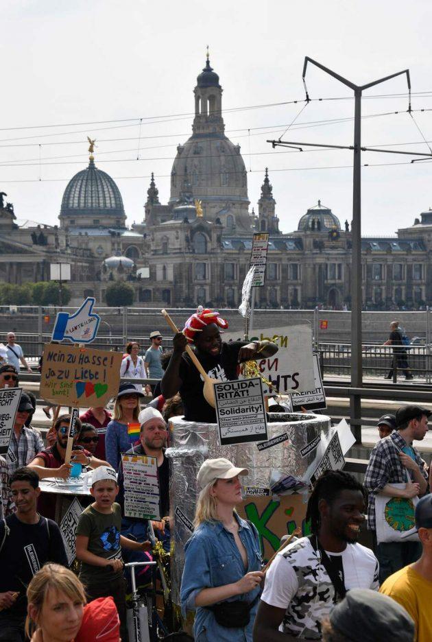 Germania, in 35mila a Dresda contro l'estrema destra Afd e i