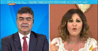 """Crisi, Santanchè a Fiano su La7: """"Oggi dovrei fare la ola per governo M5s-Pd. Italiani vi faranno un mazzo così e vi manderanno a casa"""""""