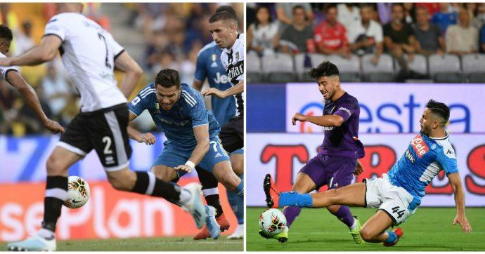 Serie A, Juventus e Napoli ripartono dai tre punti. Bianconeri di misura a Parma, a Firenze arrivano gol, spettacolo e polemiche