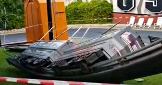 Canevaworld, incidente nell'area Movieland: si ribaltano due carrozze del trenino monorotaia