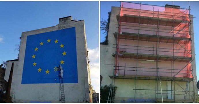 Banksy, scompare a Dover il suo murale sulla Brexit. Le ipotesi: cancellato o venduto dai proprietari del palazzo
