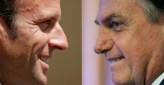 """Amazzonia in fiamme, Bolsonaro: """"Macron deve ritirare i suoi insulti, se vuole che io accetti gli aiuti del G7"""""""