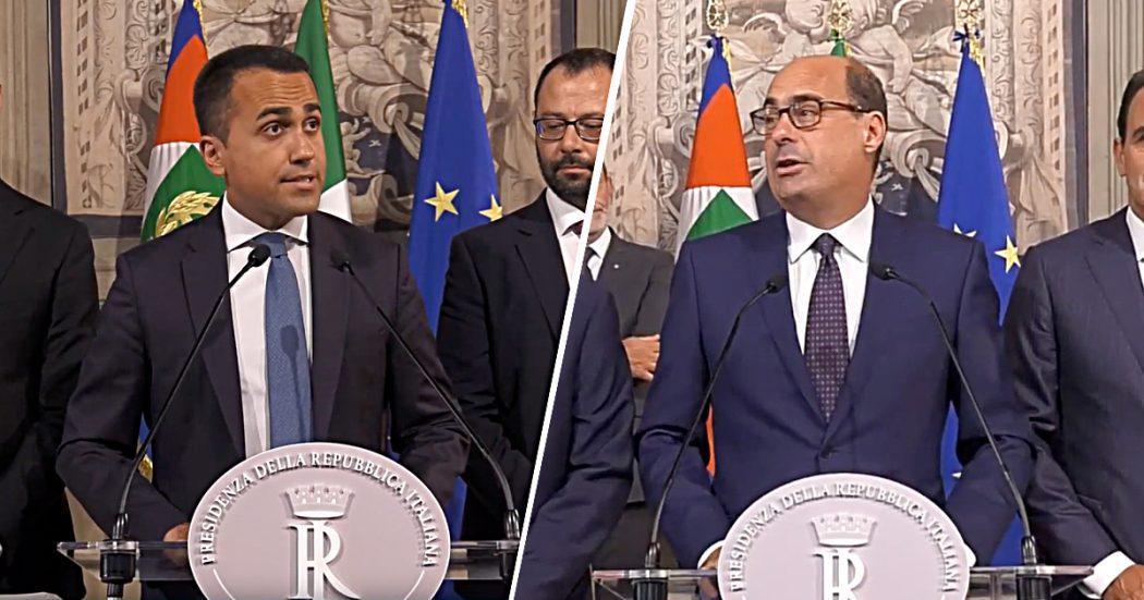 """Governo, ok da M5s e Pd: Mattarella ha convocato Conte. Zingaretti: """"Non è una staffetta ma nuova sfida"""". Di Maio: """"Prima i contenuti, poi i nomi. Lega mi ha offerto di fare il premier, no grazie"""""""