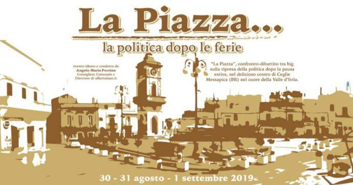"""Brindisi, il 30 agosto inizia la seconda edizione del festival di Affari Italiani """"La Piazza"""". Tra gli ospiti anche Conte, Toti e Bernini"""