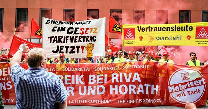 Acciaierie Riva, lavoratori tedeschi in sciopero da 12 settimane: chiedono agli ex proprietari dell'Ilva di applicare il contratto collettivo
