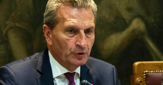 """Governo, il commissario Ue Oettinger: """"Se cambiano i toni da Roma, fare tutto il possibile per facilitare il lavoro del nuovo esecutivo"""""""