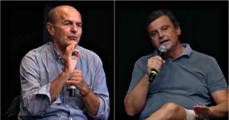 """Versiliana 2019, botta e risposta tra Calenda e Bersani sul governo Pd-M5s. """"Accordo favorirà la Lega"""", """"No, è il contrario. Proviamoci"""""""
