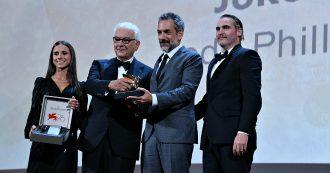 Mostra del Cinema di Venezia, i vincitori: Leone d'oro a 'Joker', Gran Premio giuria al 'J'accuse' di Polanski. Premiati anche Marinelli e Maresco
