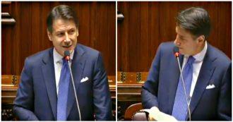 """Governo, Conte: """"Ignobili attacchi alle mie ministre Bellanova e De Micheli. Avete la mia vicinanza"""". Ovazione in Aula da Pd e M5s"""